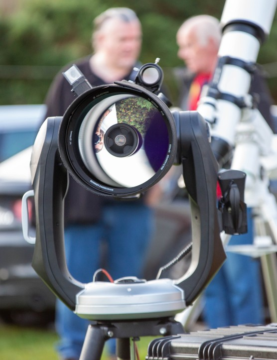 Observing is the name of the game, Skellig Star Party 2019. Credit: Roy Stewart