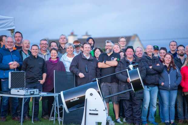 Astronomers celebrating a successful Skellig Star Party 2019. Credit: Roy Stewart