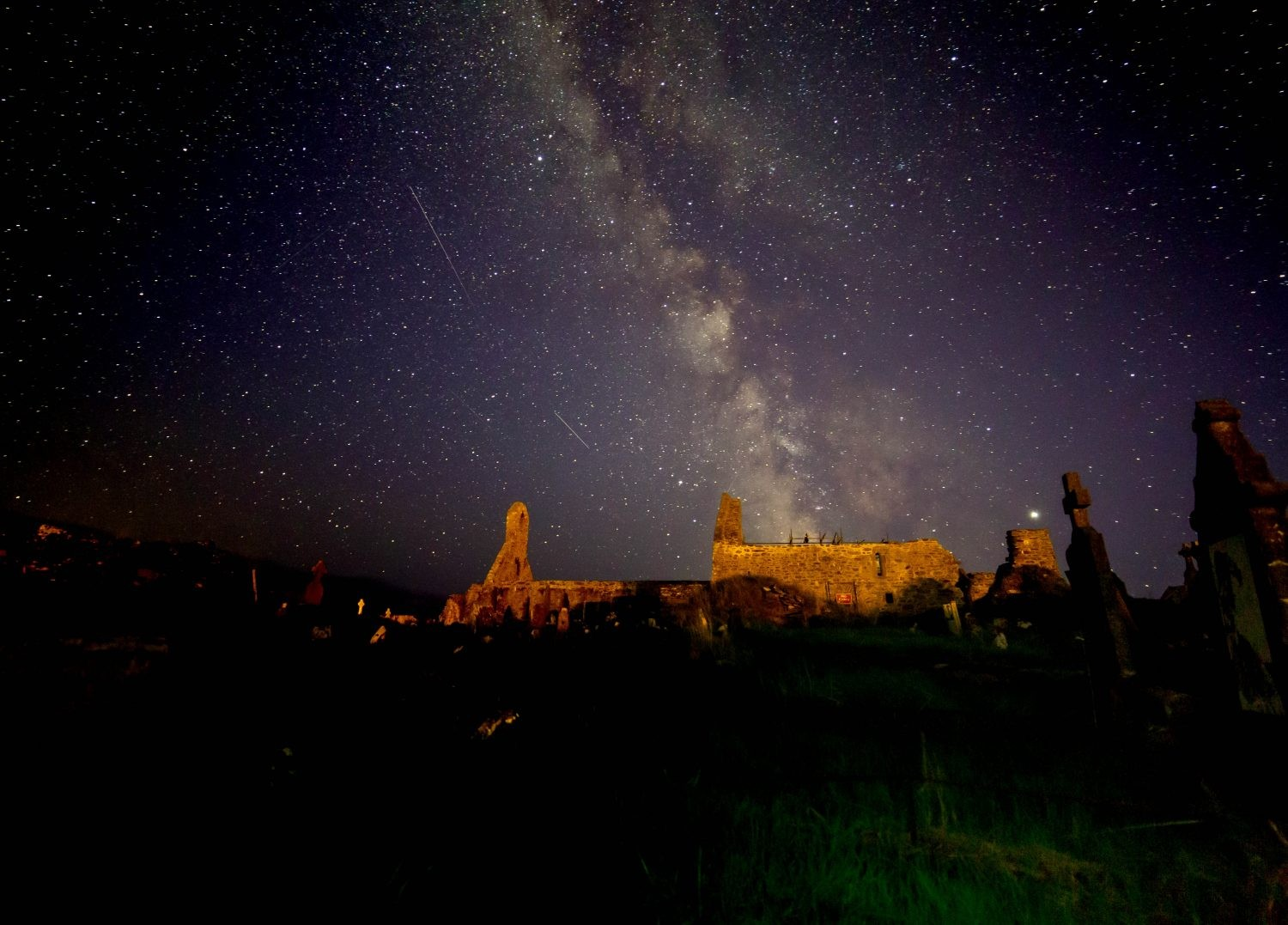 A view of the Milky Way over Skellig Star Party. Credit: Roy Stewart