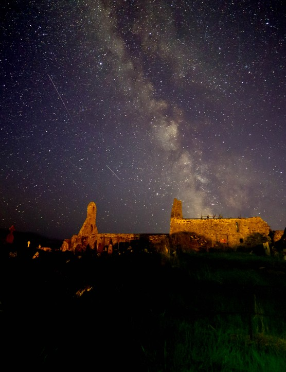 A vista of the Milky Way stretching across the dark night sky over Skellig Star Party. Credit: Roy Stewart