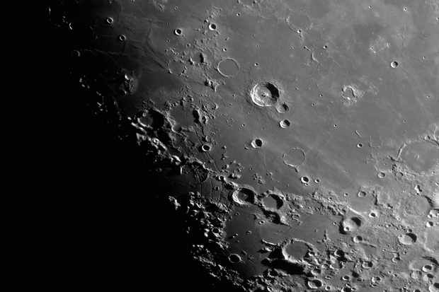 Shadows are key to lunar study; as they move, grow and fade, new aspects of familiar surface features come to the fore. Credit: Pete Lawrence