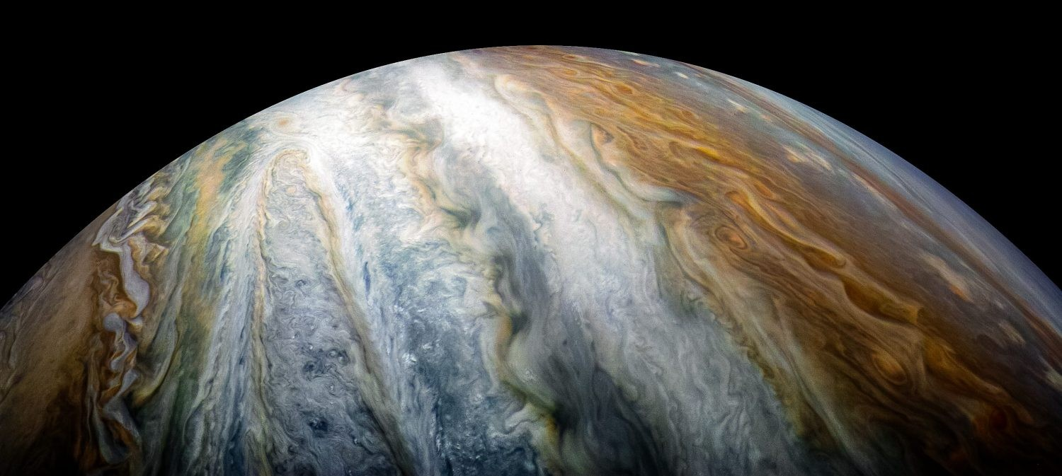 Juno has revealed the chaotic beauty of Jupiter's stormy cloud tops. But this is just the tip of the iceberg.Credits: NASA/JPL-Caltech/SwRI/MSSS/Kevin M. Gill