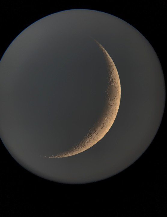 A crescent Moon captured with the NightCap smartphone app. Credit: Paul Money