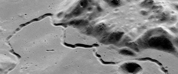 Rima Hadley, as seen by the Lunar Reconnaissance Orbiter. Credit: NASA / Arizona State University