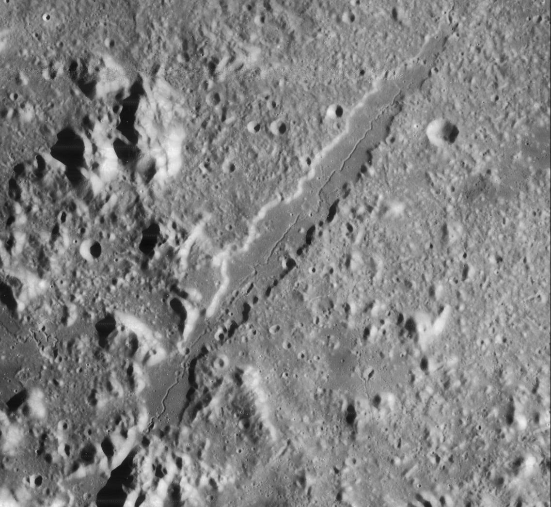 Vallis Alpes, as seen by the Lunar Reconnaissance Orbiter. Credit: NASA