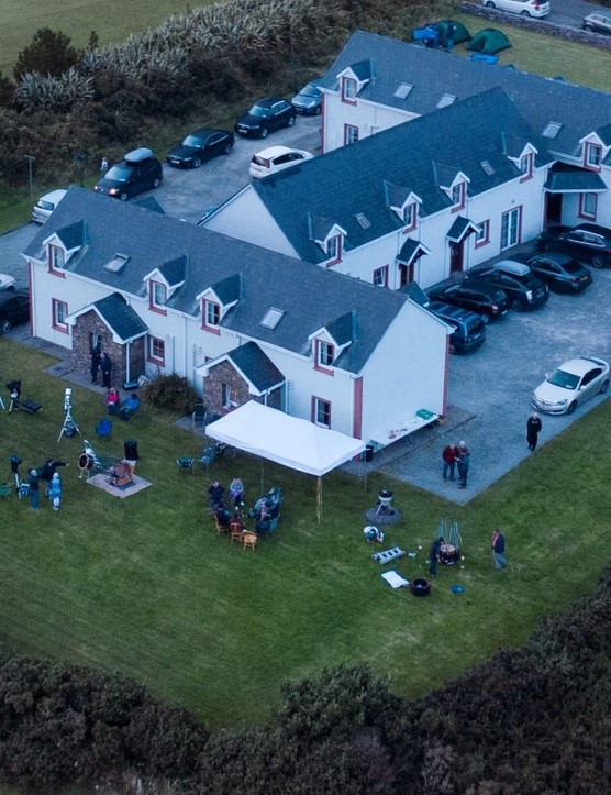 An aerial view of Skellig Star Party 2019. Credit: Dave Kai Piper