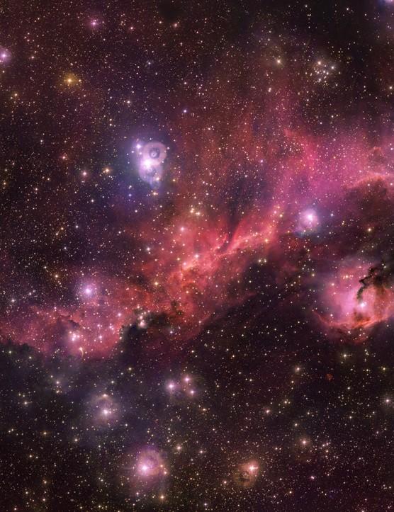 The Seagull Nebula VLT Survey Telescope, 7 August 2019. Credit: ESO/VPHAS+ team/N.J. Wright (Keele University)