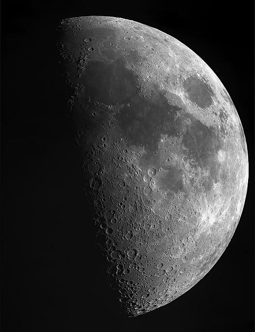Lunar X and V Vicki Pink, Southampton, 9 July 2019. Equipment: Altair GPCAM2 290C camera, Sky-Watcher Explorer 130P Newtonian, Sky-Watcher SynScan AZ GoTo mount.