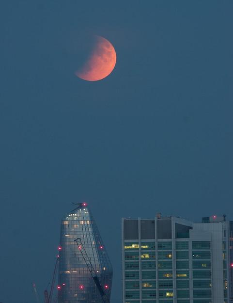 Lunar eclipse Darshna Ladva, London, 16 July 2019. Equipment: Nikon D5500 DSLR camera, Altair 60EDF refractor, Sky-Watcher Star Adventurer mount.