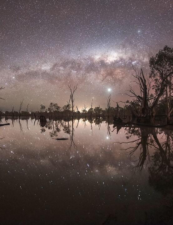 Mullinger Milky Way John Carter, South Australia, 30 June. Equipment: Canon EOS 6D DSLR camera, Samyang 12mm lens.