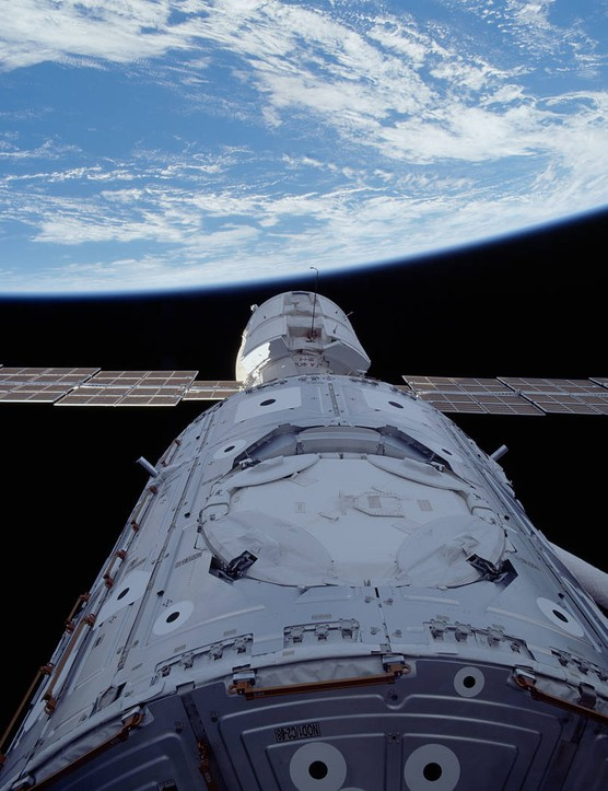 Space Shuttle Endeavour delivered the US-built Unity module to the International Space Station on 6 December 1998. It was the first piece of the ISS to be provided by the US. Credit: NASA