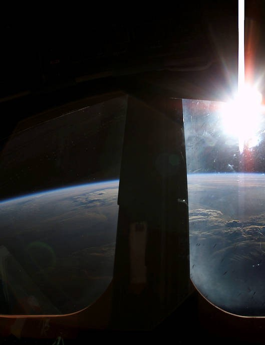 A sunrise captured from Space Shuttle Columbia, 22 January 2003. Credit: NASA