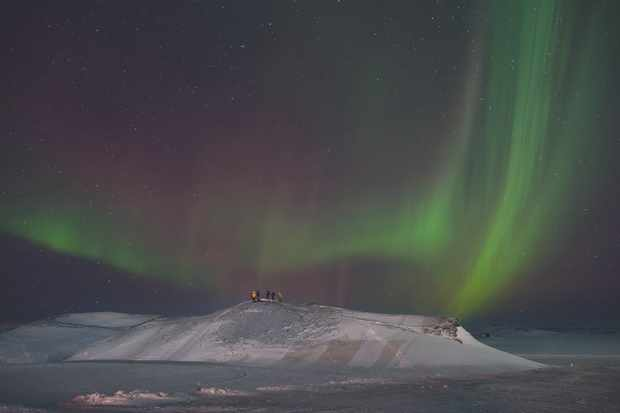 James's final processed image shows delicate harmony between landscape and aurora. Credit: James Woodend