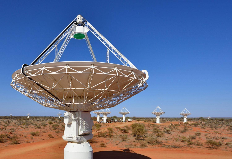 The antennas of CSIRO's ASKAP telescope at the Murchison Radio-astronomy Observatory in Western Australia. Credit: CSIRO