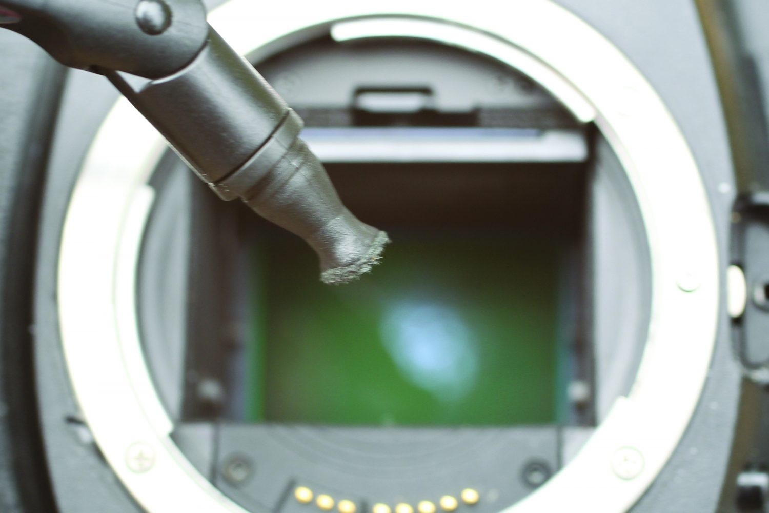 Cleaning your DSLR camera: step 2. Credit: Ian Evenden