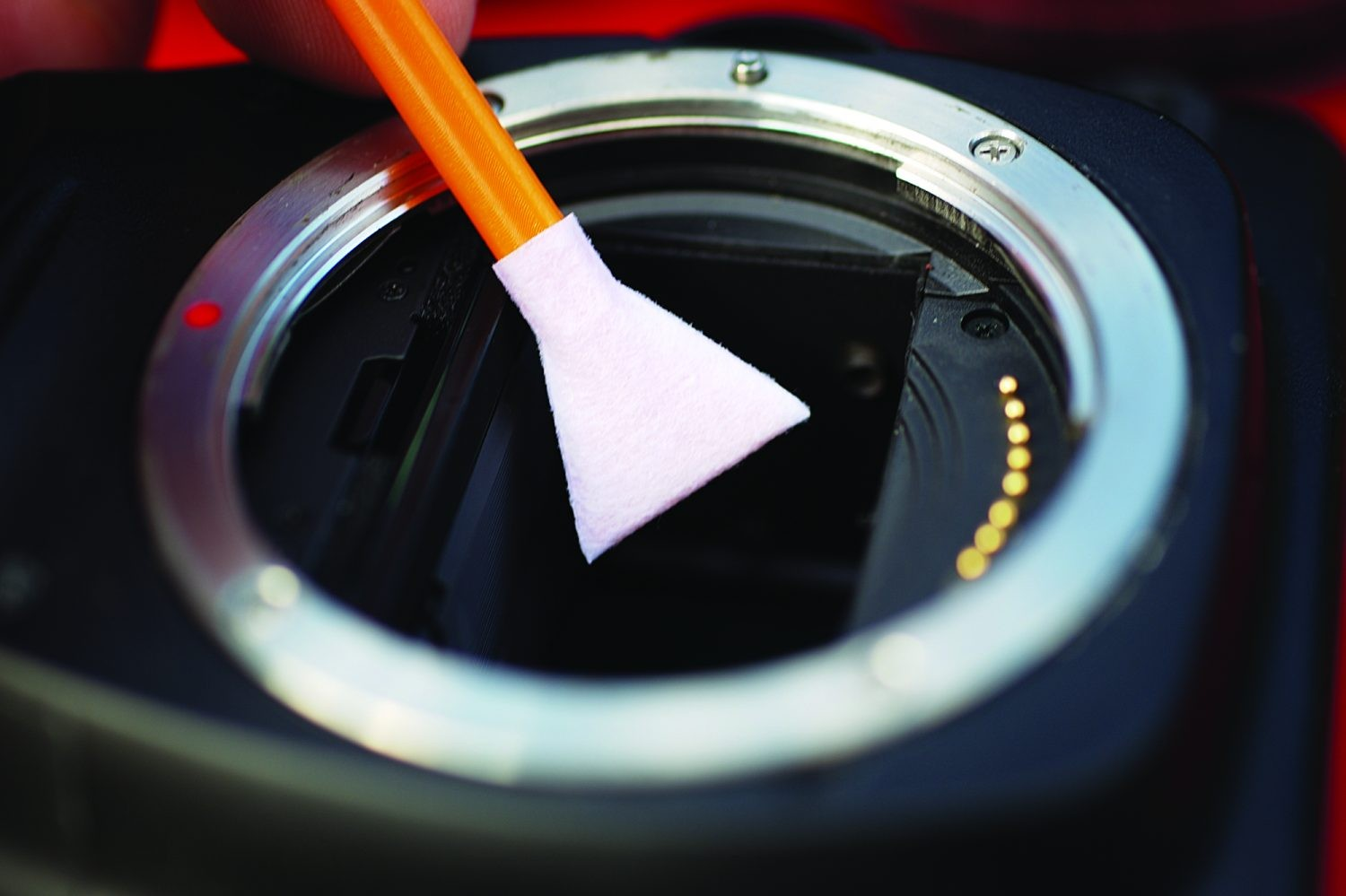Cleaning your DSLR camera: step 4. Credit: Ian Evenden