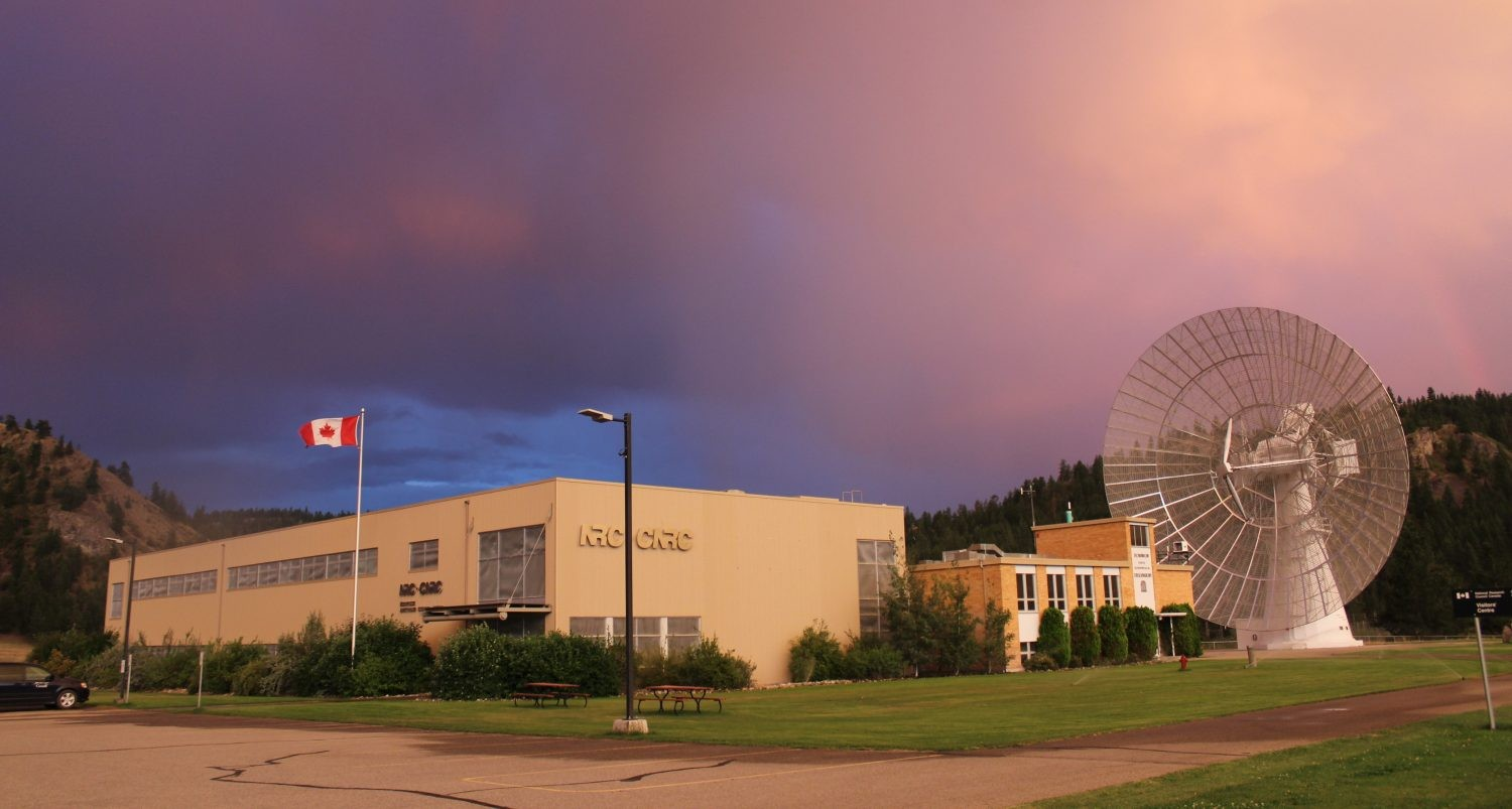 The Dominion Radio Astrophysical Observatory, British Colombia: home of CHIME. Credit: CHIME Collaboration
