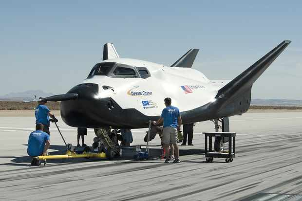 The Dream Chaser pictured following a 60mph tow test at NASA's Dryden Flight Research Center, California. Credit: Ken Ulbrich