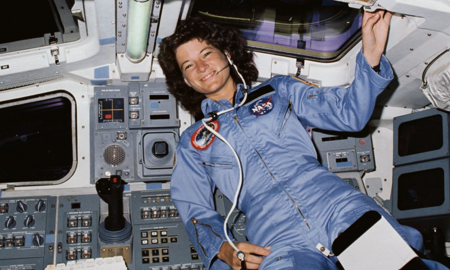 "Astronaut Sally Ride became the first American woman in space aboard Space Shuttle Challenger on mission STS-7, which launched 18 June 1983. She later said: ""I'm sure it was the most fun I'll ever have in my life."" Credit: NASA"