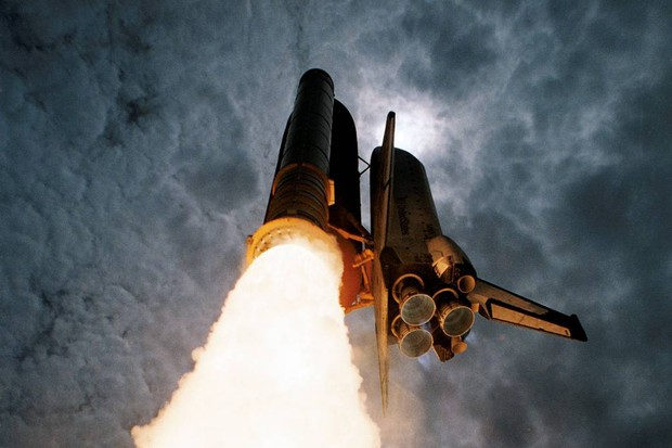 Space shuttle Columbia launches from NASA's Kennedy Space Center, carrying the first United States Microgravity Laboratory, June 25, 1992. Credit: NASA