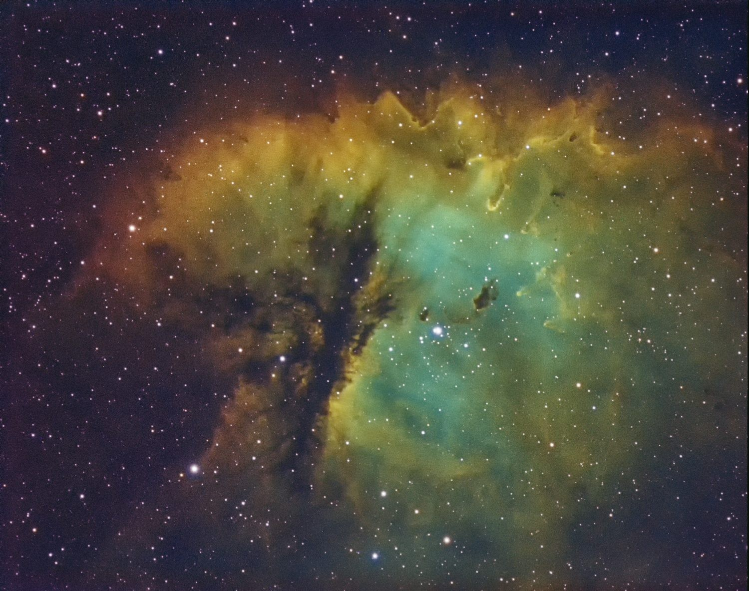 Tim Jardine's image of the Pacman Nebula. Credit: Tim Jardine