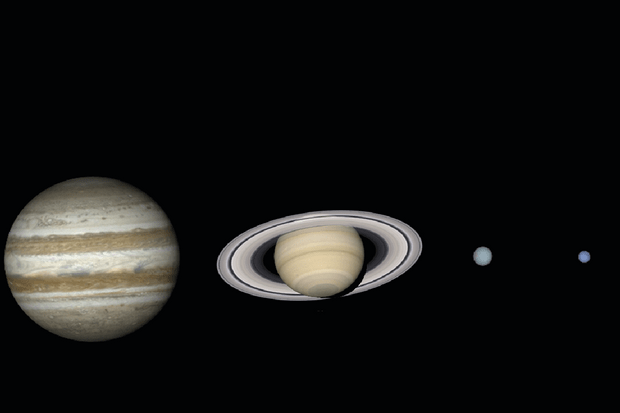 Find out which planets are best to see in the night sky, October 2019. Credit: Pete Lawrence.