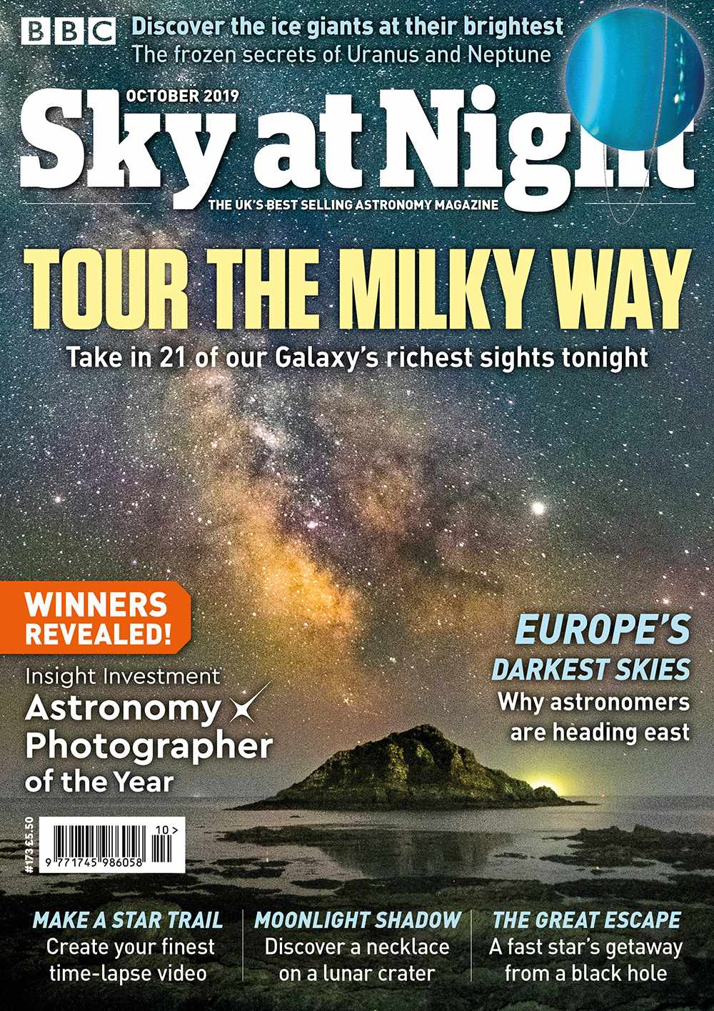 The October 2019 issue of BBC Sky at Night Magazine