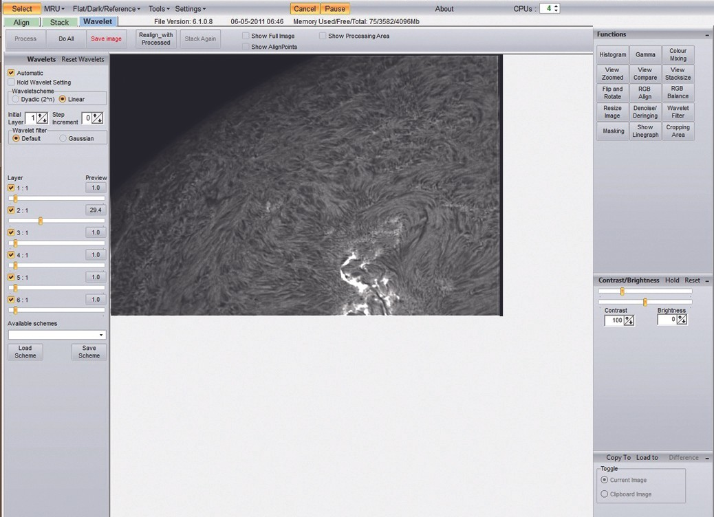 Creating a Solar Mosaic, step 4. Credit: Gary Palmer