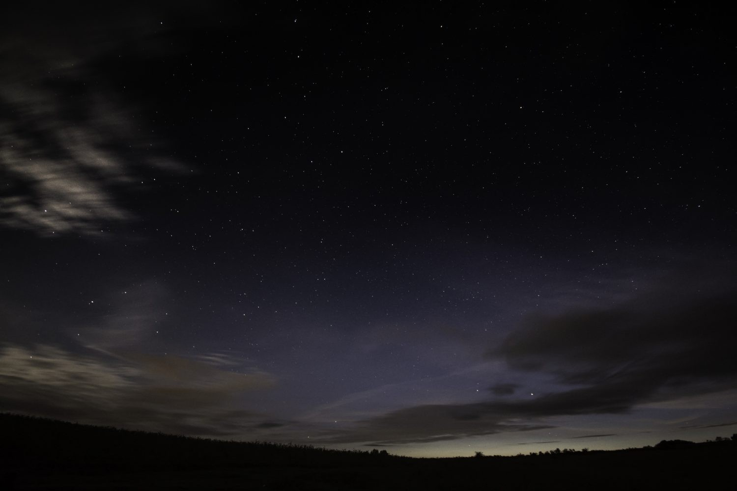 A view of the night sky over the Brecon Beacons Visitor Centre in South Wales. Credit: Edward Bentley/Getty Images