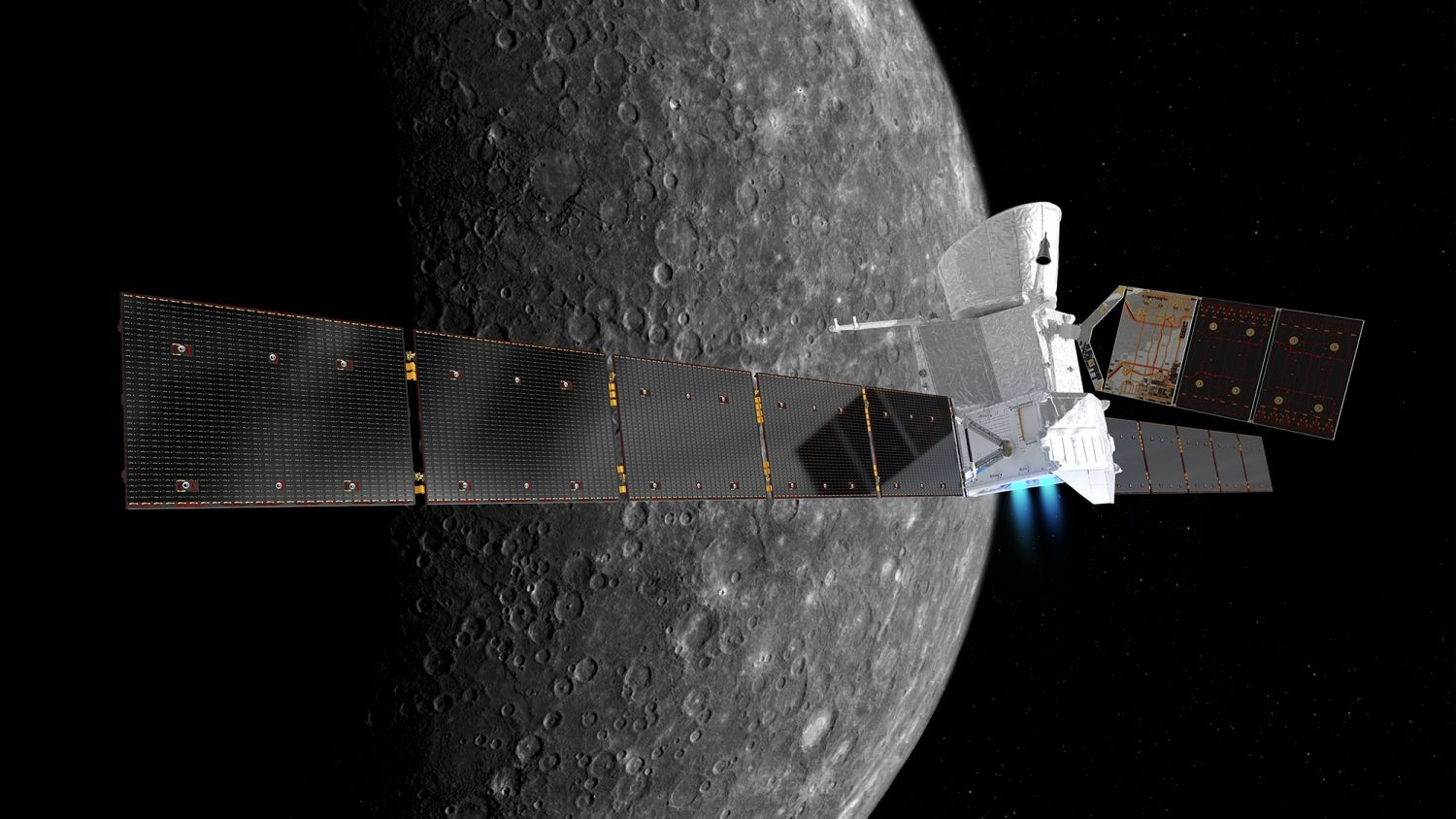 Bepi Columbo is a joint mission between the European and Japanese Space Agency to investigate Mercury.