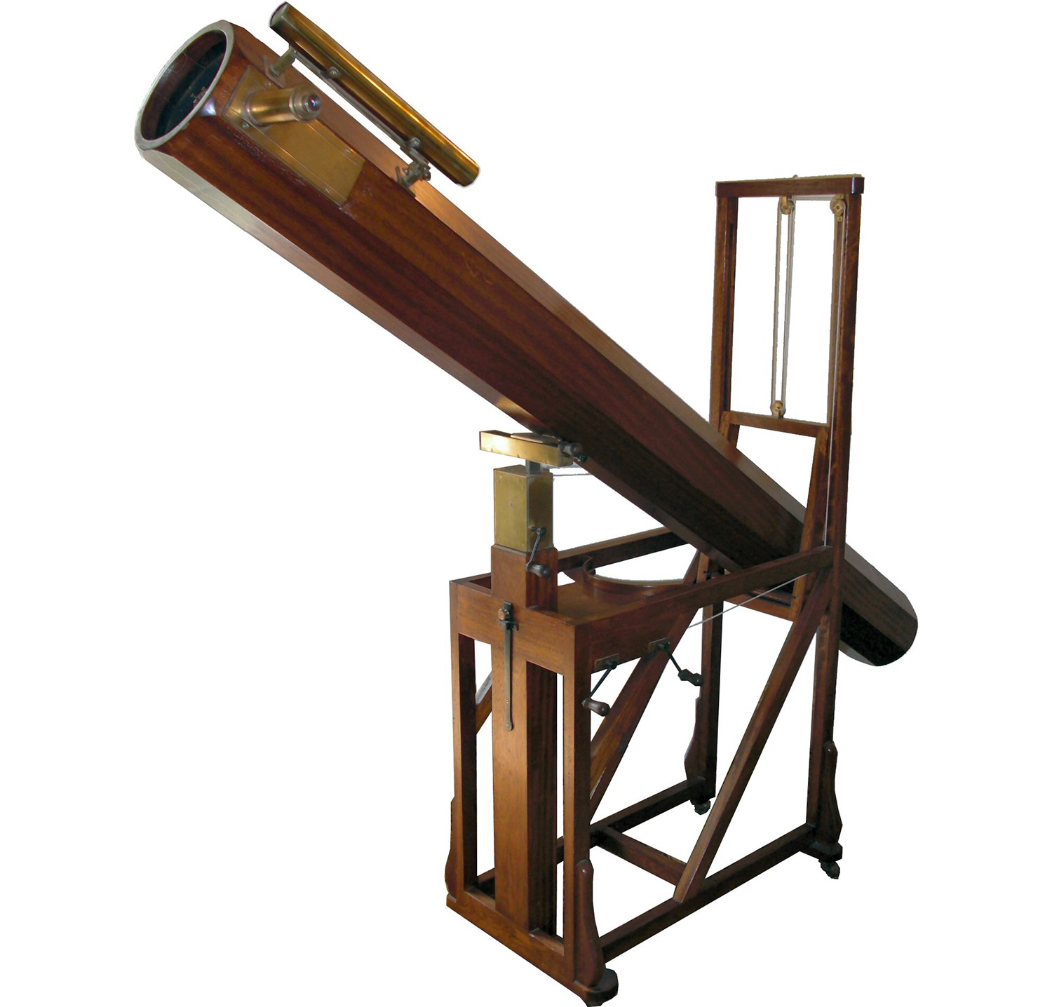 A replica of the telescope with which Herschel discovered Uranus, on display at the Herschel Museum of Astronomy in Bath, UK. Credit: Mike Young (https://en.wikipedia.org/wiki/William_Herschel)