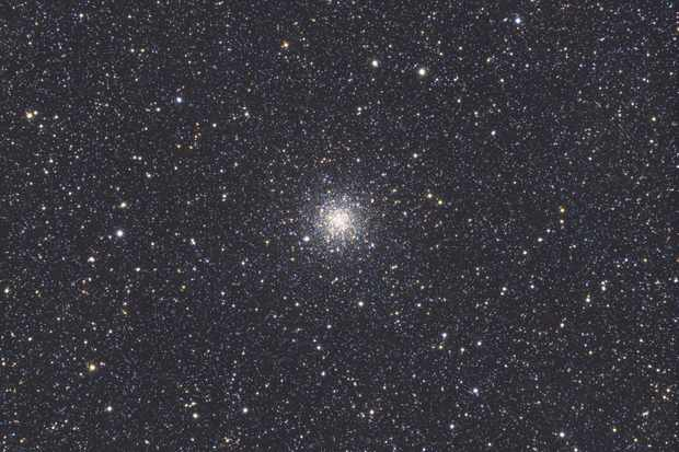 Globular clusters don't suffer so much from lunar glare; all data for this image of M56 was captured during a full Moon. Credit: Sara Wager