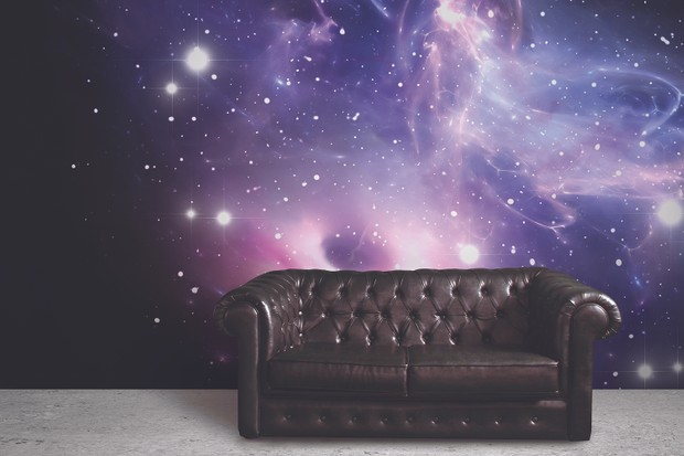 Space Murals Wallpaper - Bright Galaxy