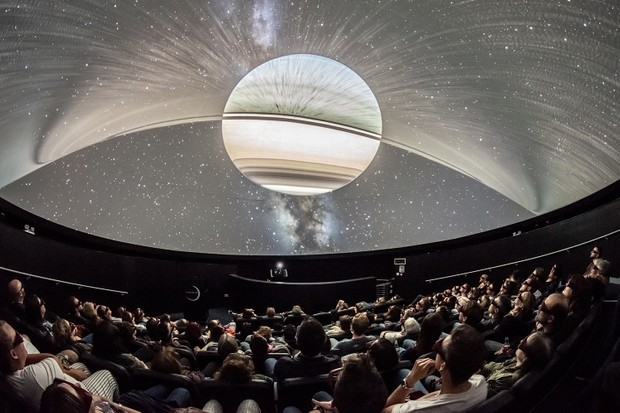 Inside the planetarium dome at Bristol's We The Curious. Credit: Lee Pullen