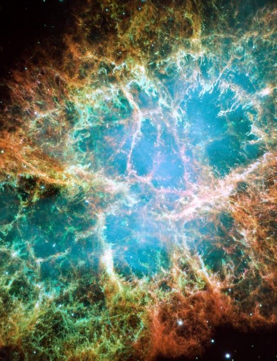 The Crab Nebula. Credit: NASA, ESA, J Hester, A Loll.