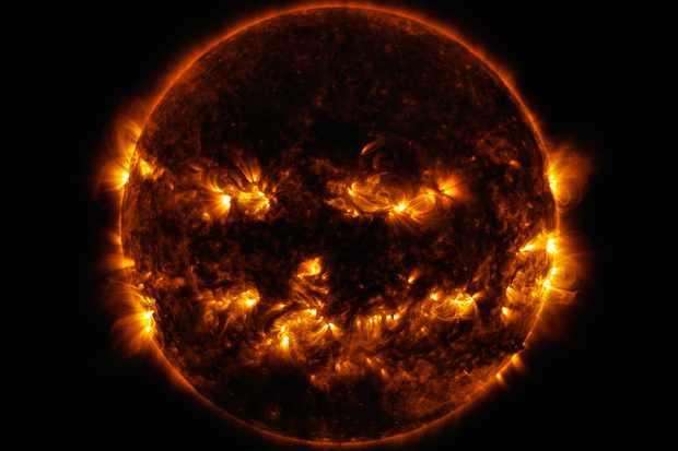 NASA captures a Halloween Sun. Credit NASA/SDO
