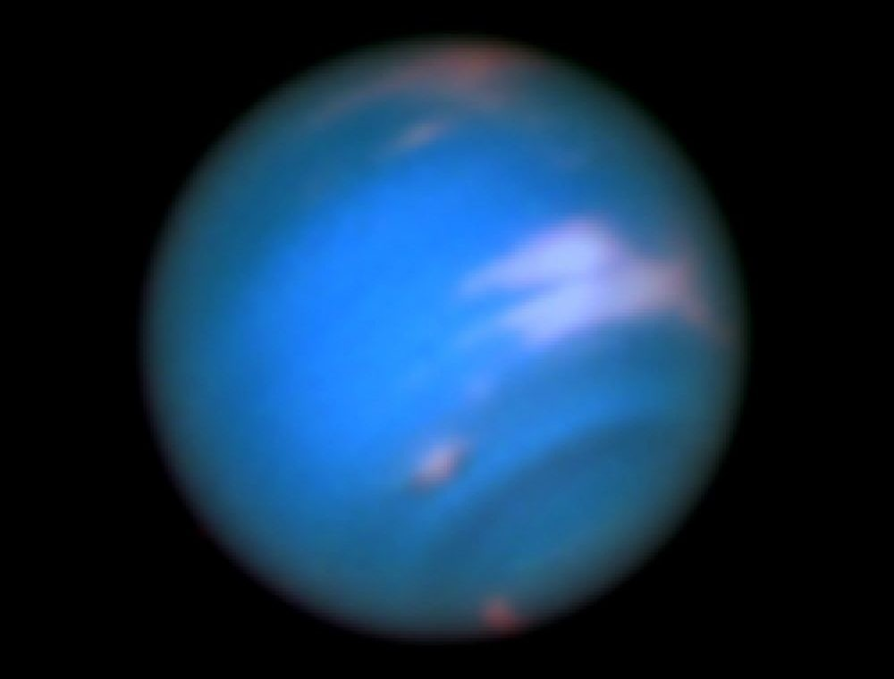 Hubble image of Neptune