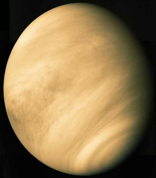 The planet Venus taken by Mariner 10