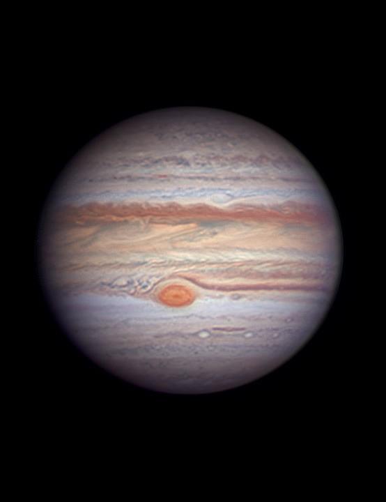 Jupiter, Rouzbeh Bidshahri, Dubai, 25 July 2019 Equipment: ZWO ASI290 mono camera, Celestron C14 Schmidt-Cassegrain, Losmandy Titan mount