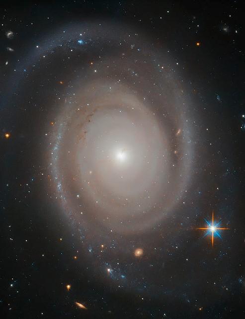 Spiral Galaxy NGC 1706 Hubble Space Telescope, 28 October 2019 Credit: ESA/Hubble & NASA, A. Bellini et al.