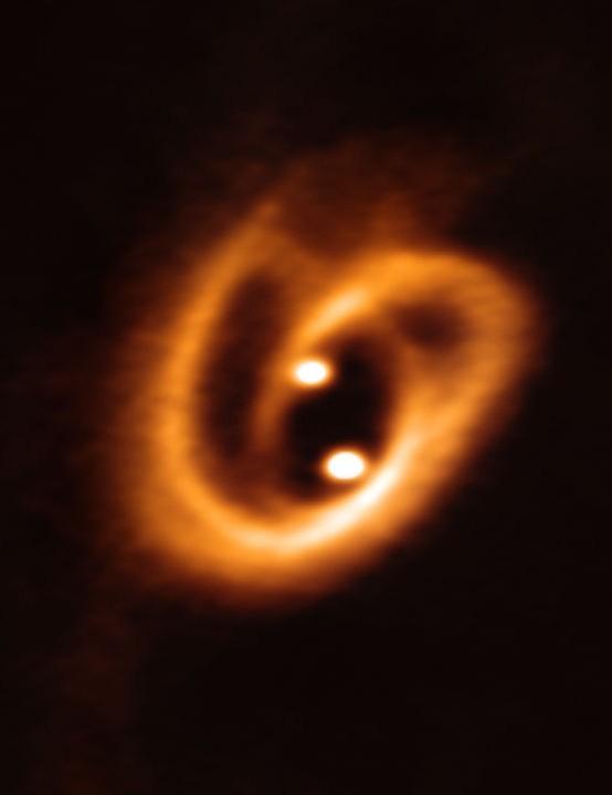 Binary proto-star ALMA, 4 October 2019 Credit: ALMA (ESO/NAOJ/NRAO), Alves et al.