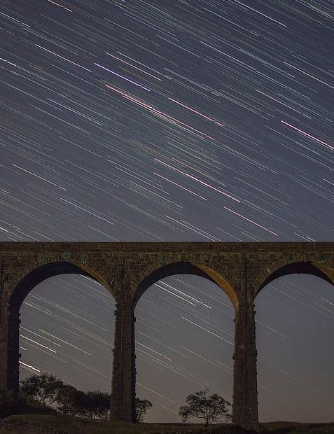Star Trails Daniel McNamara, Yorkshire, 20 September 2019 Equipment: Nikon D7200 DSLR, Nikkor 35mm f/1.8 lens, Manfrotto Befree Advanced tripod