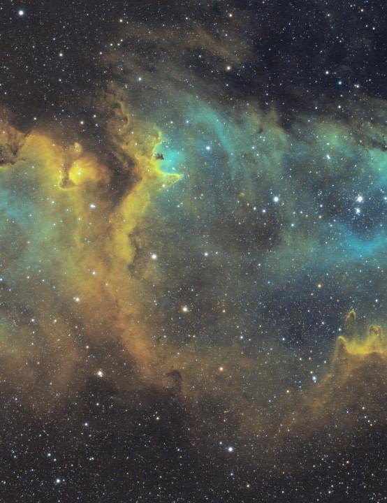 The Soul Nebula Ruzeen Farsad, Kettering, 13, 17, 19 & 20 September 2019 Equipment: Altair Hypercam 183M Pro Tec mono camera, Sky-Watcher Evostar 72ED apo refractor, Sky-Watcher HEQ5 Pro mount