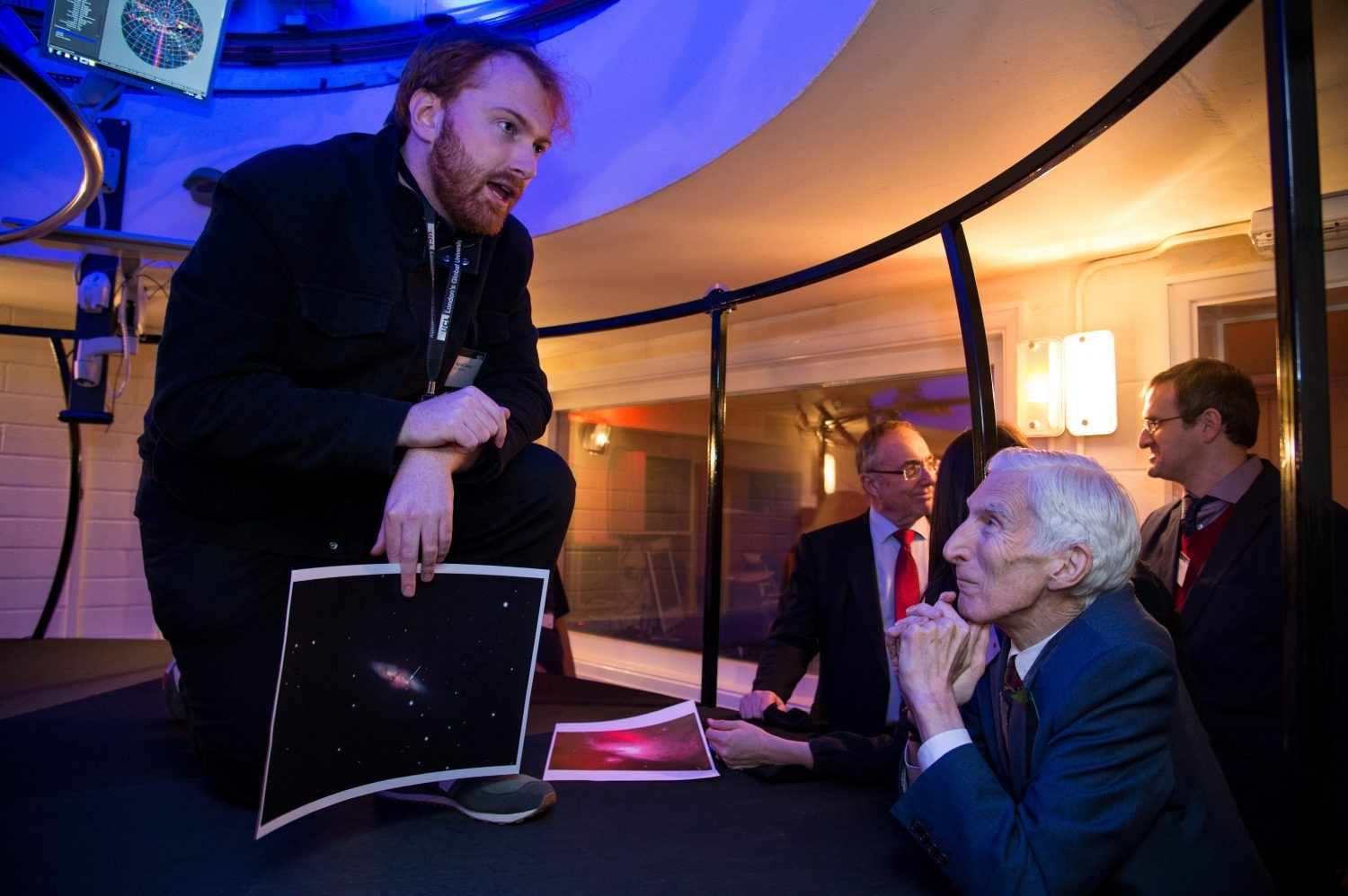 Astronomer Royal Martin Rees pictured at the UCL Observatory Perren telescope unveiling (Image by Kirsten Holst)