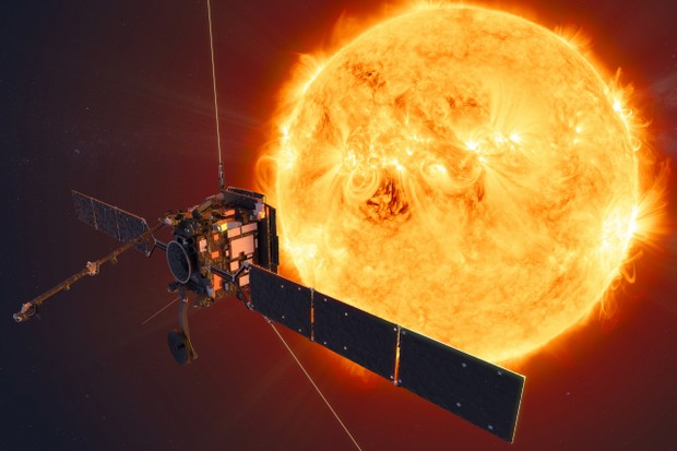 An artist's impression of ESA's Solar Orbiter spacecraft. Copyright: ESA/ATG medialab