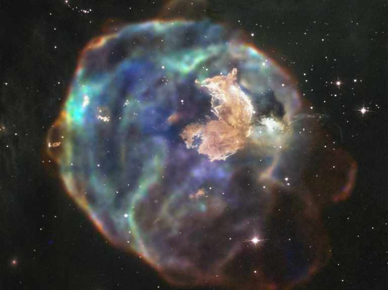 The shell of a massive exploded star captured in X-ray light