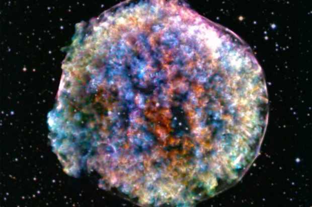 Tycho supernova remnant. Credit: X-ray: NASA/CXC/RIKEN & GSFC/T. Sato et al; Optical: DSS