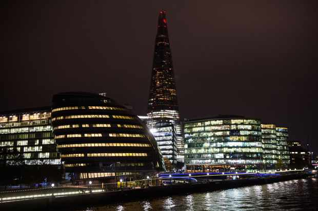 Lights off at the Shard as Google promotes the astrophotography capabilities of its new Pixel 4 phoen. Credit: Matt Crossick/PA Wire