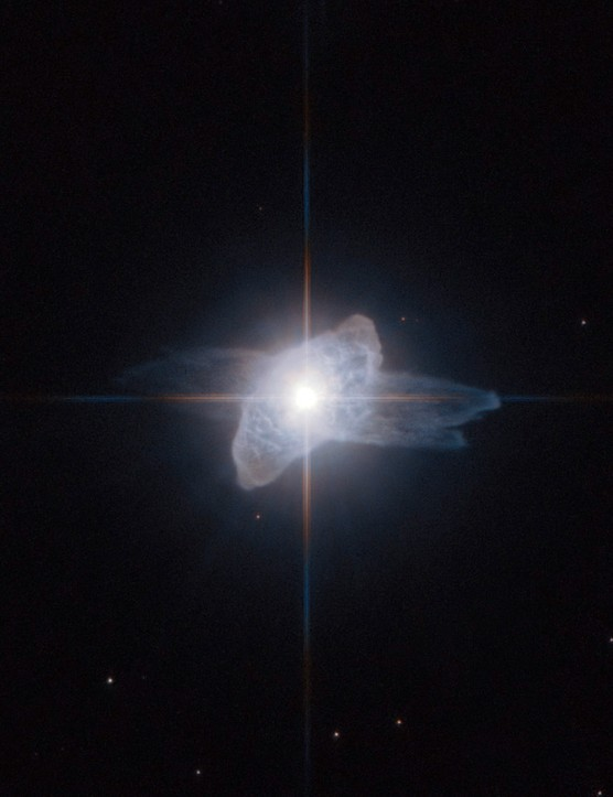 IRAS 19475+3119 12 July 2010. Hubble captures a brief but beautiful phase late in the life of a star as it starts to shed its atmosphere into space. Credit: ESA/Hubble and NASA