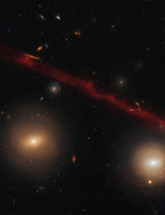 Galaxy D100 Hubble Space Telescope, Subaru Telescope, 28 January 2019